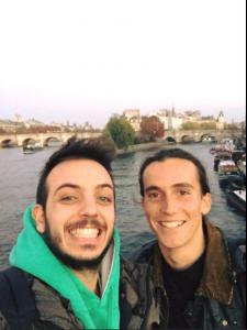 Ricco Fedele a Parigi con Cesare Curtabbi