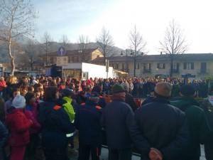 Commemorazione in piazza a Condove. mercoledì 27