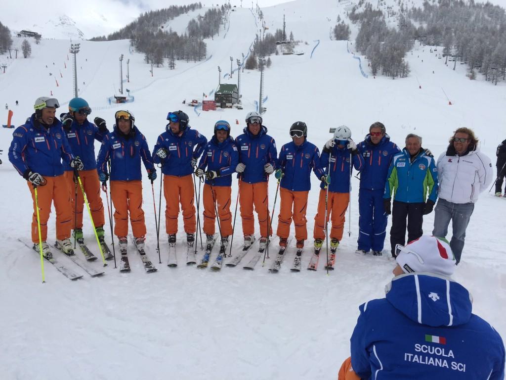 Sestriere. Il Demo Team Italia si prepara sulla Kandahar