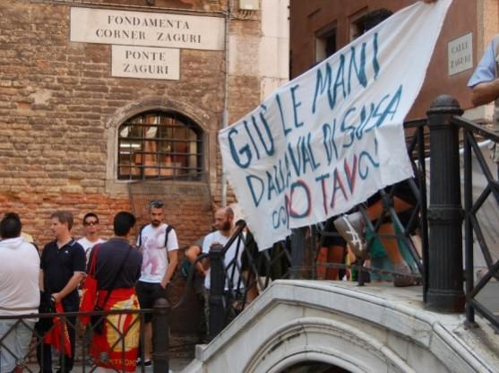 No Tav a Venezia (foto da nuovavenezia.gelocal.it)