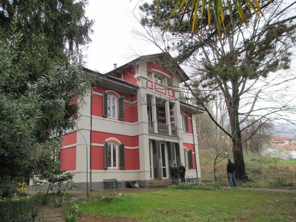 Rubiana villa tabusso la casa degli scrittori la for Piani di casa bassa architettura del paese