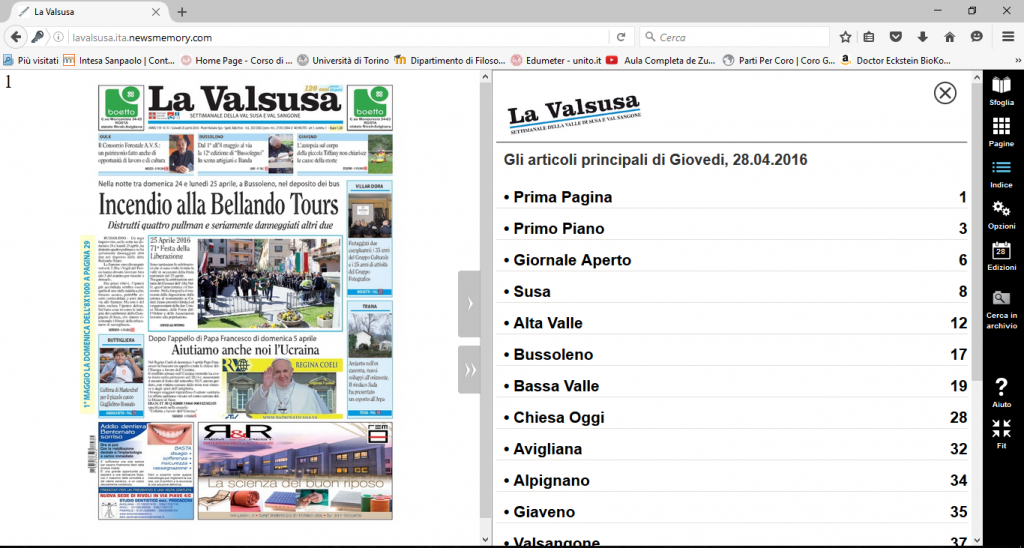 "Ecco ""La Valsusa"" in versione digitale"