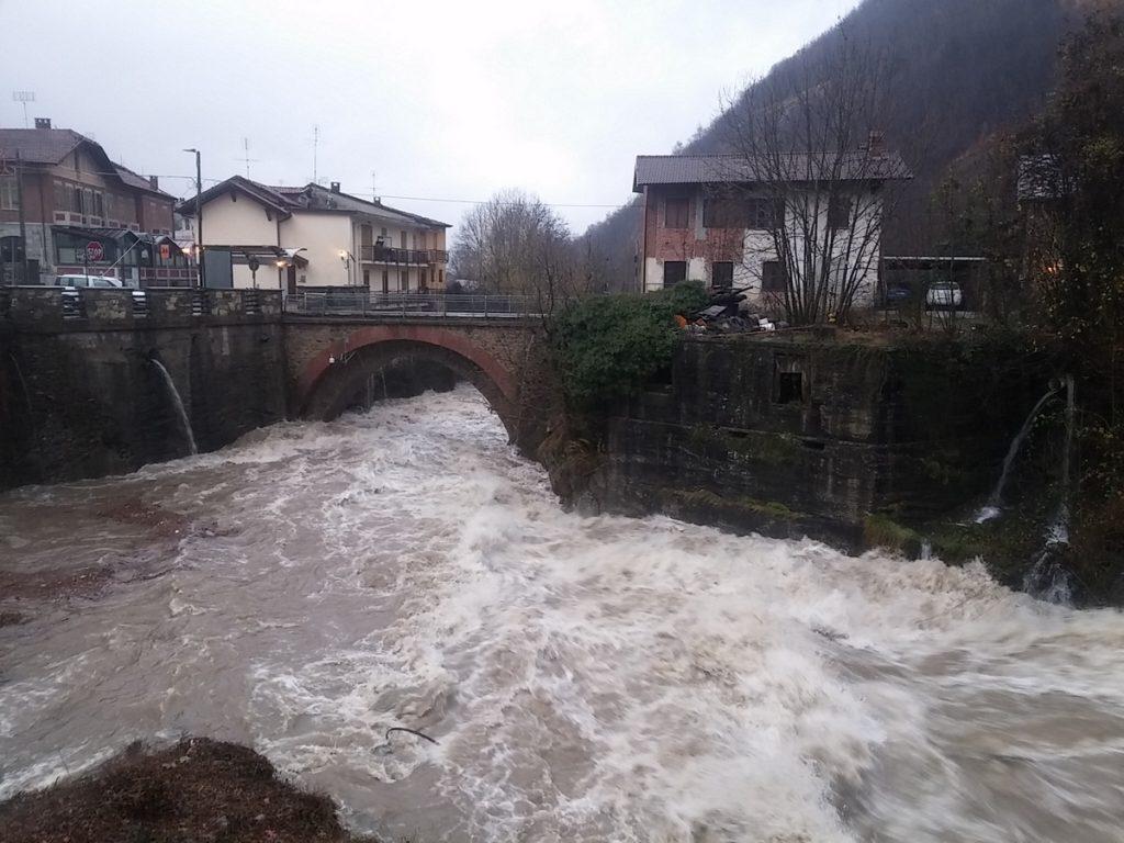 Maltempo in Val Sangone, scuole chiuse e massima allerta