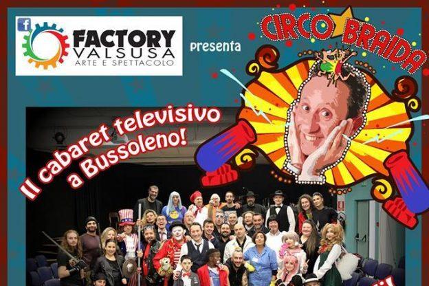 Bussoleno, cabaret televisivo con il Circo Braida