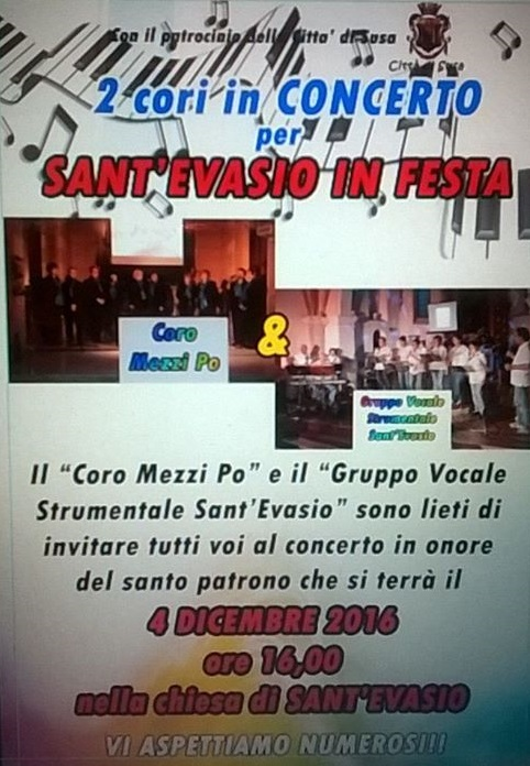 Susa, concerto per i 40 anni della Corale Sant'Evasio