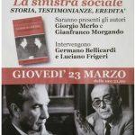 Da Panassi a Susa, giovedì 23 marzo, rivive la Sinistra Sociale