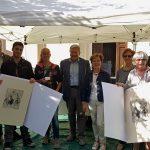 39) Premiati concorso Canestrello d'Oro, sindaco Vaie, pasticcere Simone Vercellina, Unitre e sig.ra Rosina Ilotti