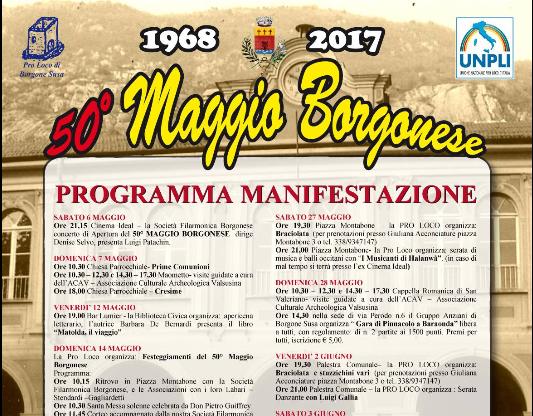 50° Maggio Borgonese, il programma