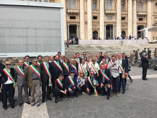 Sindaci dell'alta valle da Papa Francesco