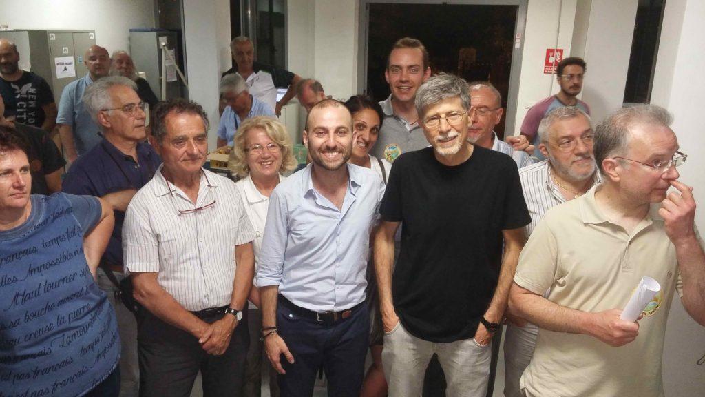 La notte elettorale di Archinà, nuovo sindaco di Avigliana