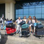 Ciro, Laura, Chiara e Isabella in partenza dall'aeroporto di Milano Malpensa lunedì 17 luglio