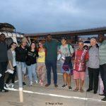 28 luglio 2017. L'arrivo all'aeroporto di Lomé. Da sinistra: Edo, Sabrina, Nicolò, Alessia, Francesca, Albert, Giorgio, Ciro, don Cordola e George le chauffeur