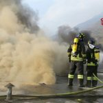 In fiamme il cotonificio di Borgone