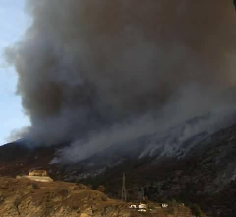 Incendi in Valle di Susa. La situazione