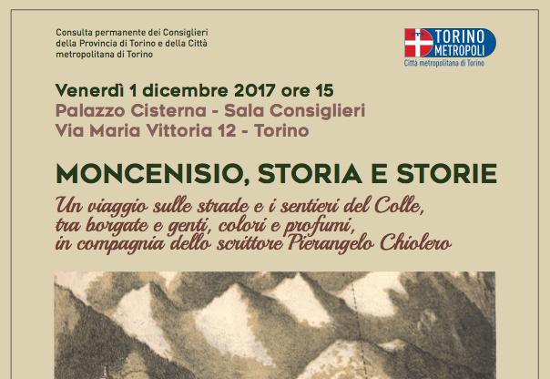 Moncenisio, Storia e Storie, venerdì 1° dicembre a Palazzo Cisterna un incontro