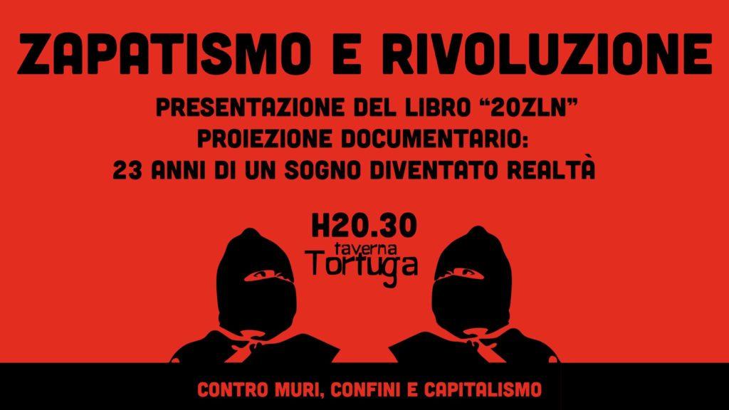 Chianocco: stasera, giovedì 14, alla Taverna Tortuga si parla di Zapatismo e Rivoluzione