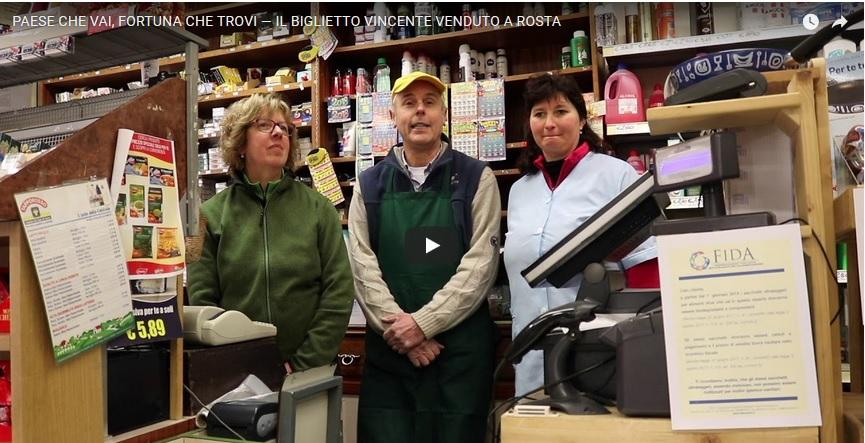 Rosta: parla il titolare del negozio che ha venduto il biglietto vincente della Lotteria Italia
