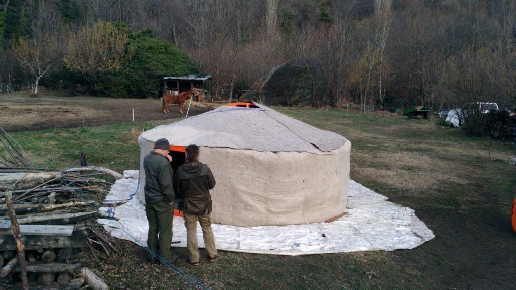Una tenda mongola in Valsusa