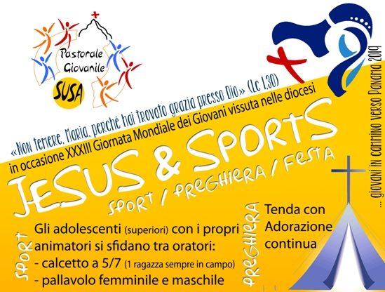 """Domenica 25 marzo, sport, divertimento e preghiera in Valsusa con """"Jesus & Sports"""""""