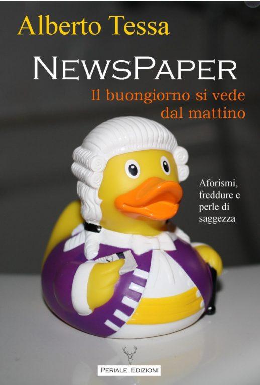 """Le battute del giavenese Alberto Tessa finalmente raccolte nel libro """"NewsPaper"""", edito da Periale"""
