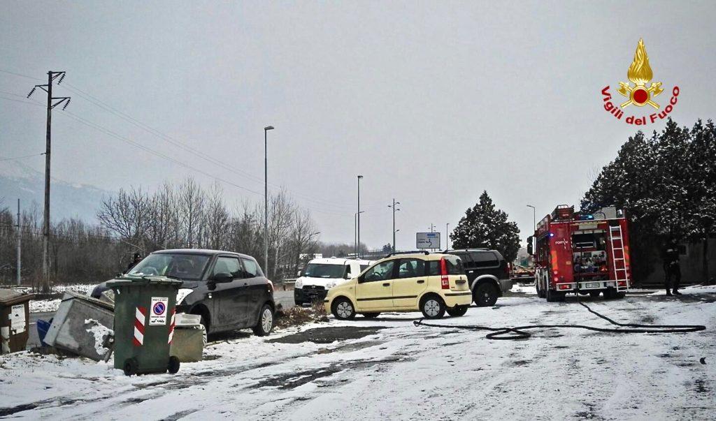 Incidente in Valsusa: auto colpisce in pieno una centralina del gas