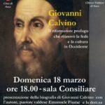 A Susa, domenica 18 marzo, si parla del riformatore Giovanni Calvino