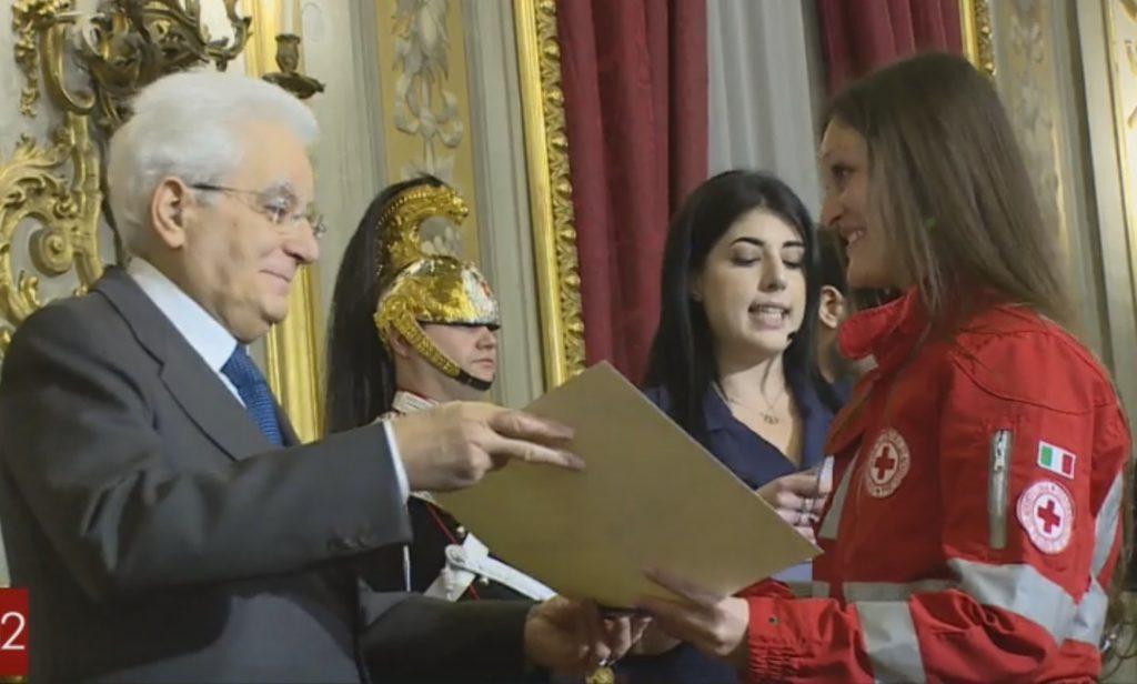 Melissa, l'Alfiere della Repubblica valsusina premiata dal Presidente Mattarella
