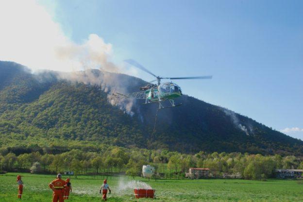 Gli A.I.B. di Caselette raccontano l'incendio su Monte Musinè della scorsa settimana
