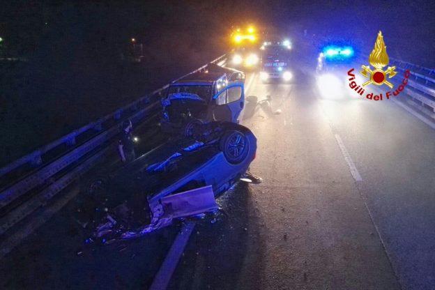 Avigliana, tre autoveicoli coinvolti in un incidente sull'autostrada A 32