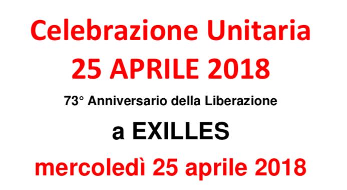 EXILLES: 25 aprile, celebrazione unitaria