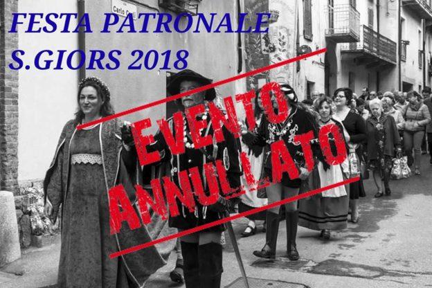 Valsusa, annullata la festa patronale di San Giorio