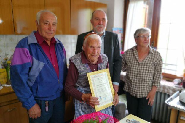 Gravere in festa per i 105 anni di Maria Caterina Pelissero