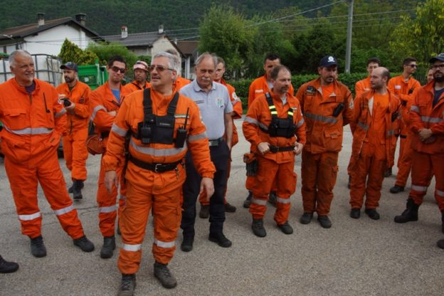 Esercitazione degli AIB in Bassa Valle di Susa