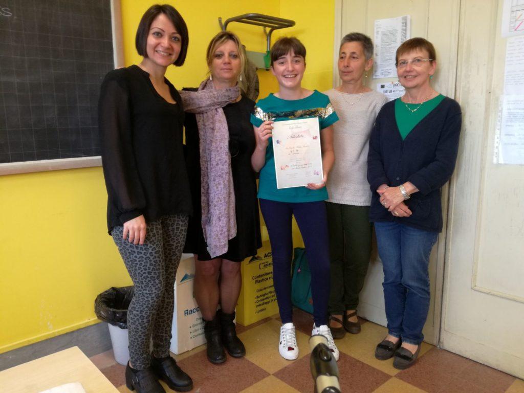 Condove festeggia Laura Girodo, fresca vincitrice di un premio speciale al concorso Giralibro
