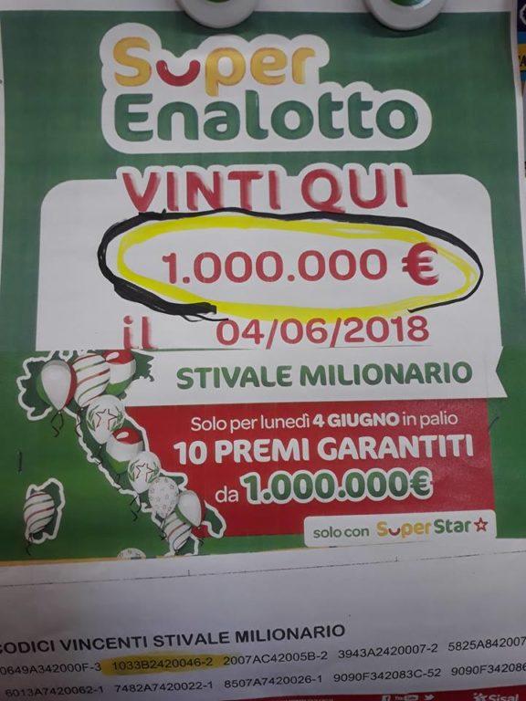 A Coazze vinto un milione di euro