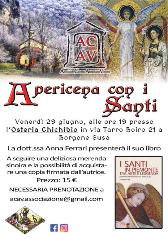 Venerdì 29 giugno, a Borgone, si fa apericena con i Santi