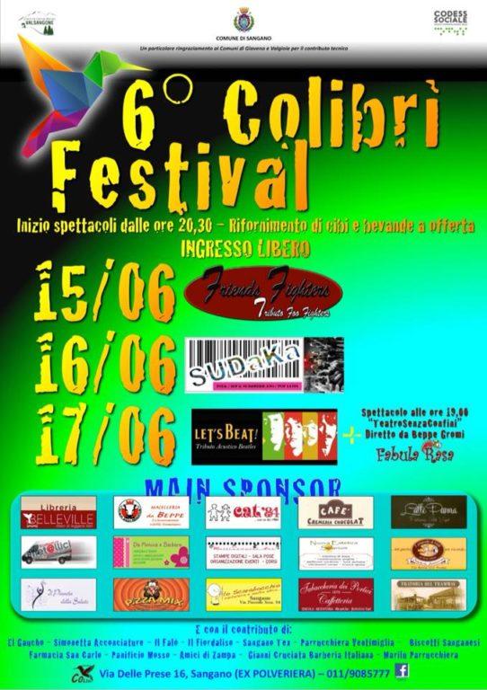 Sangano, questo fine settimana c'è il Colibrì Festival