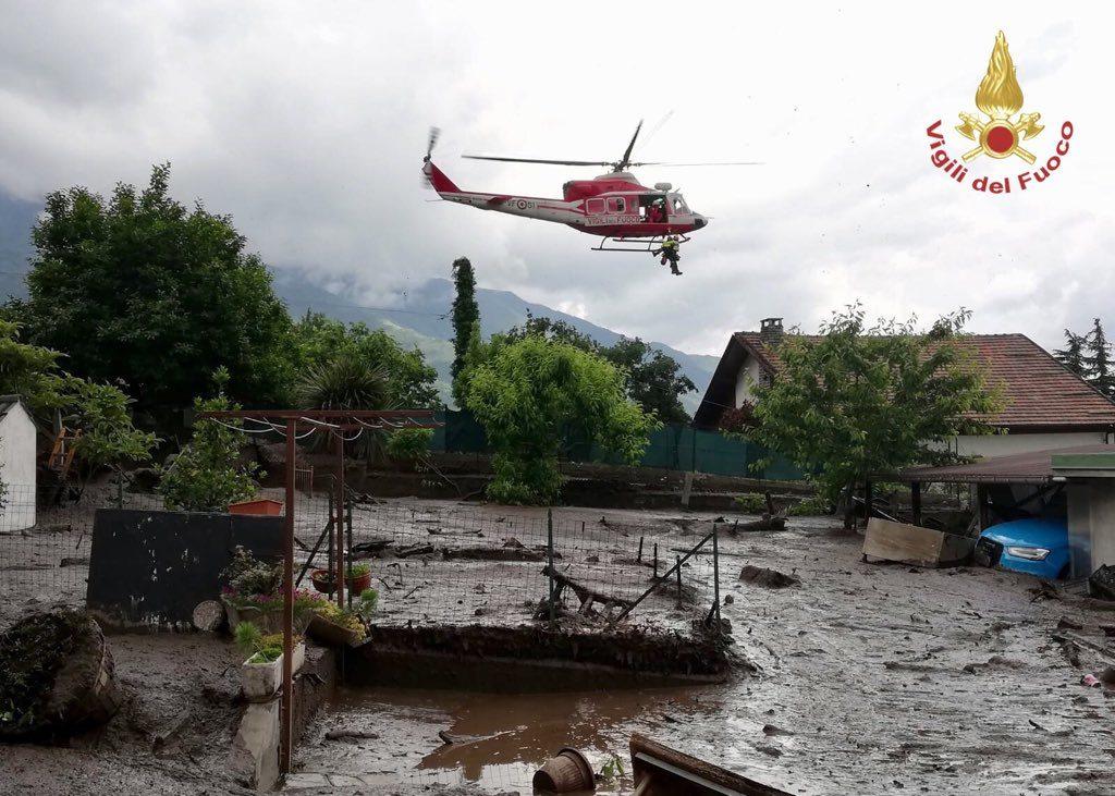 Nubifragio in Valsusa, a Bussoleno una frana ha coinvolto cinque case