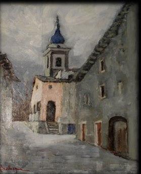 Montagne, nevi, baite della Val di Susa nella pittura di Gianni Bevilacqua