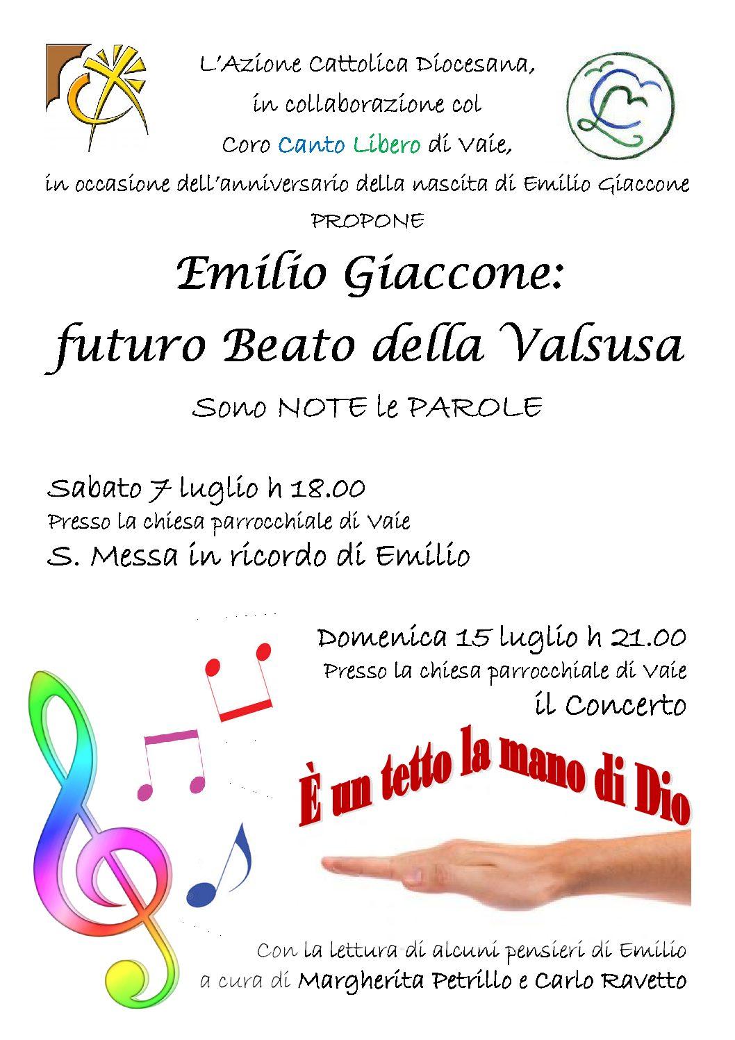 Due iniziative per ricordare la nascita del valsusino Emilio Giaccone