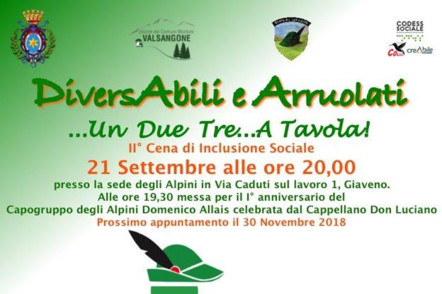 Dagli Alpini di Giaveno torna la cena con i ragazzi della comunità Colibrì