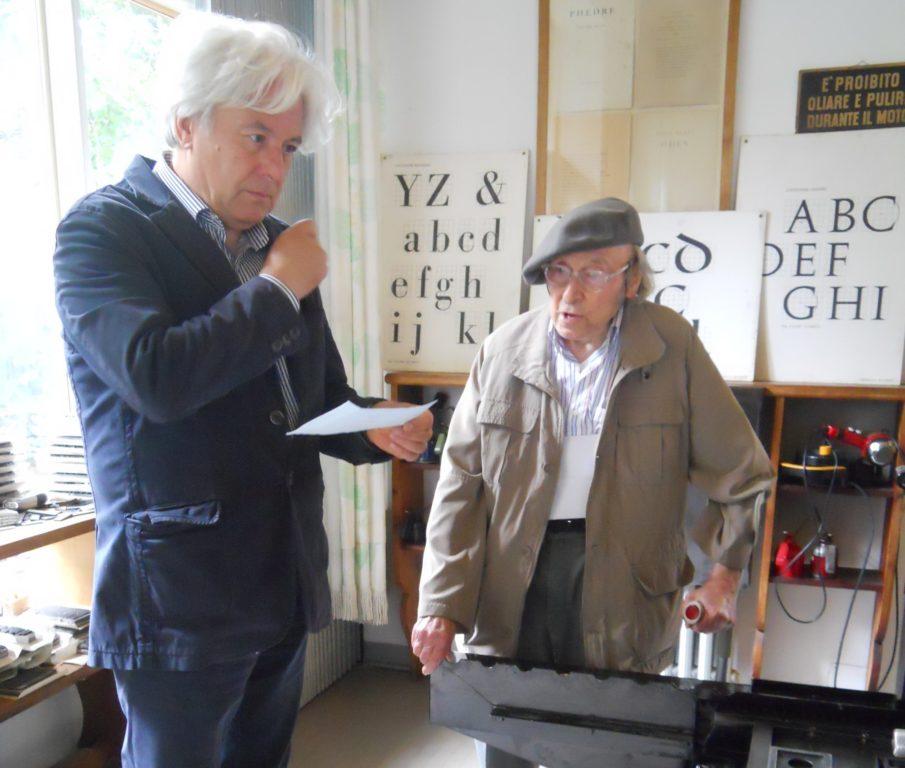 Guido Ceronetti ed Enrico Tallone di Alpignano, un'amicizia lunga 40 anni