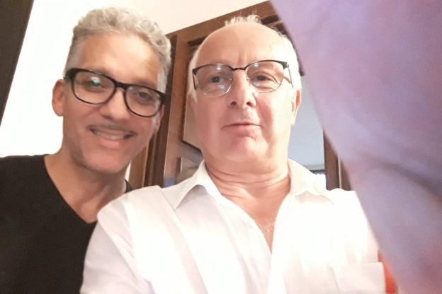 Il sindaco di Venaus, Nilo Durbiano, in trasferta a Cinecittà