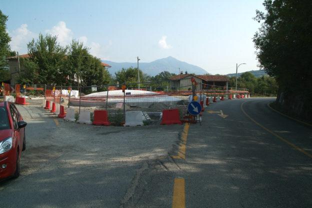 Avigliana, ancora da terminare i lavori alla rotonda di Girba