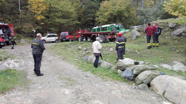 I soccorritori impegnati nella ricerca