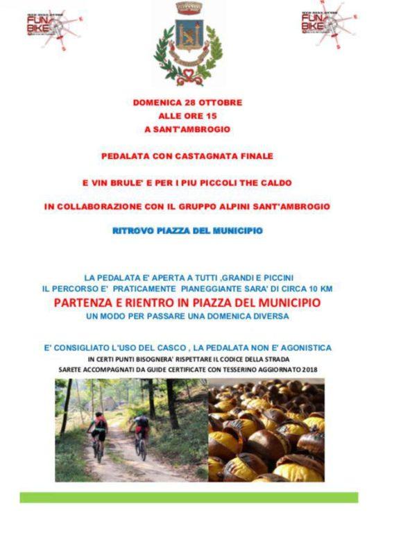 Sant'Ambrogio: domenica 28 c'è la pedalata con castagnata finale
