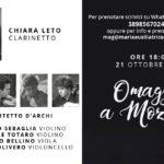 Mozart protagonista, domenica 21, al Maria Ausiliatrice di Giaveno