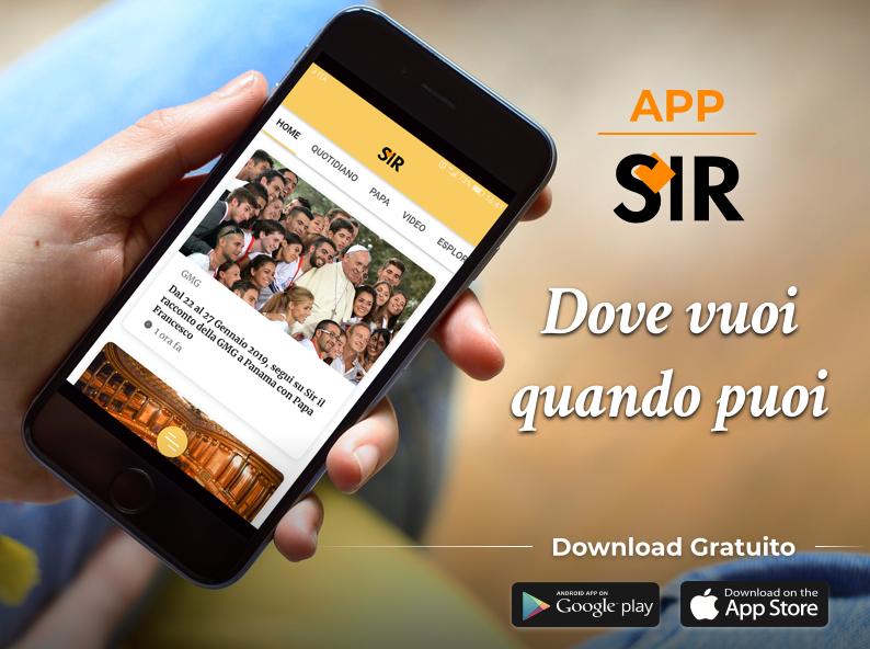 Dal 29 ottobre è disponibile l'app gratuita del Sir, il Servizio di Informazione Religiosa