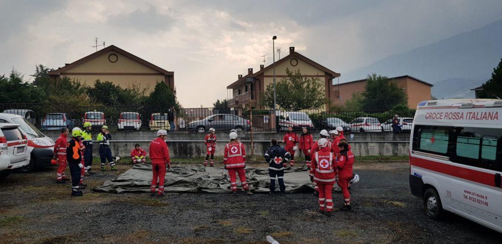 La Croce Rossa di Susa al sesto Campo Scuola e d'Addestramento di Bussoleno