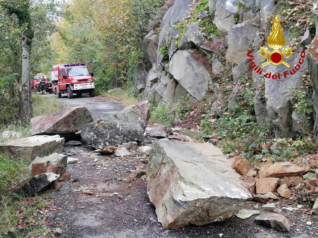 Frana in Valsusa, ancora chiuso un tratto di strada a Sant'Antonino